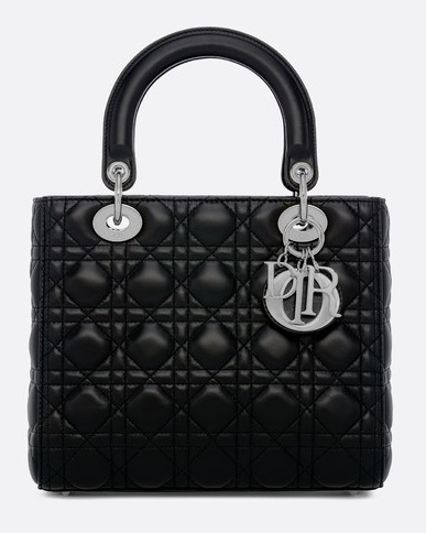 christian dior lady dior bag black