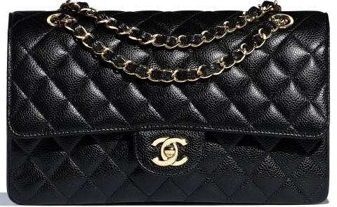 chanel classic flap bag black