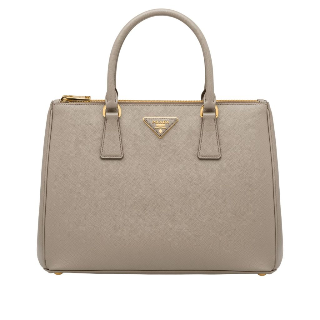 prada white galleria bag