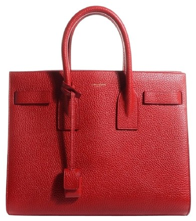 saint laurent sac de jour bag red