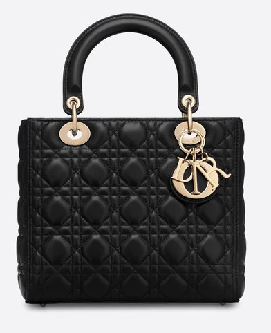 black dior lady dior bag