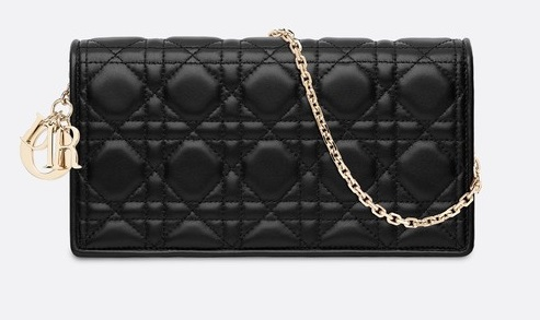 f7bcb5187f9850 Notable Handbag: Lady Dior. christian dior lady dior black clutch
