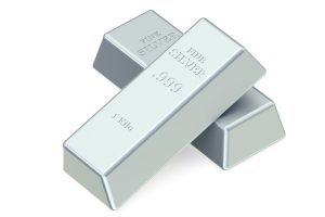 Precious Metals - 2 Silver bullion bars.
