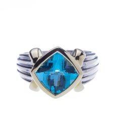 two-toned topaz ring