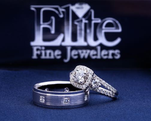 Elite Fine Jewelers logo with an engagement ring.